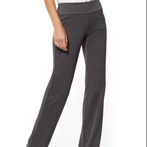 Casual work pants, stretch straight leg - used